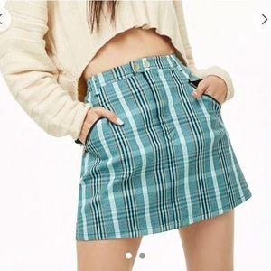 Forever 21 Blue Plaid Skirt